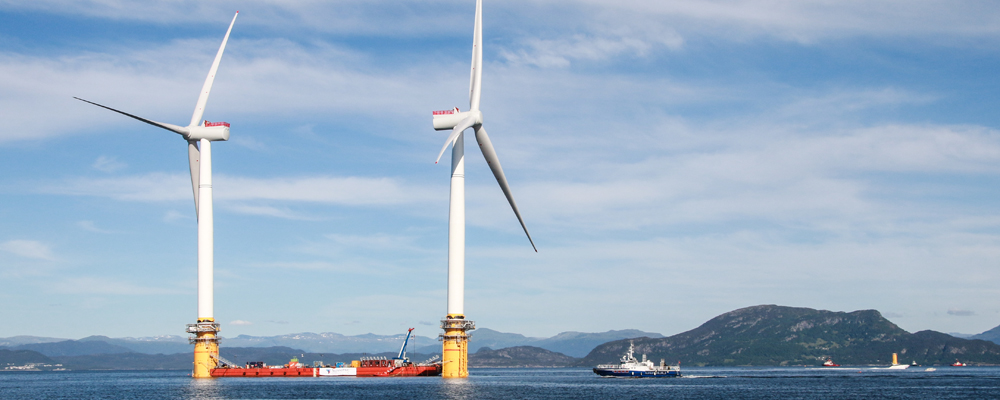 Floating wind farms: A new dimension to offshore wind energy